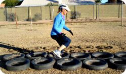 Agility Training with Tires