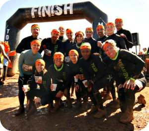 Tough Mudder Team Finish