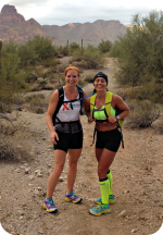 Trail running Mesa Arizona