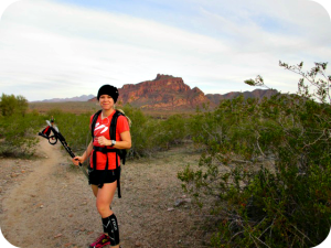 Trail running in East Mesa AZ